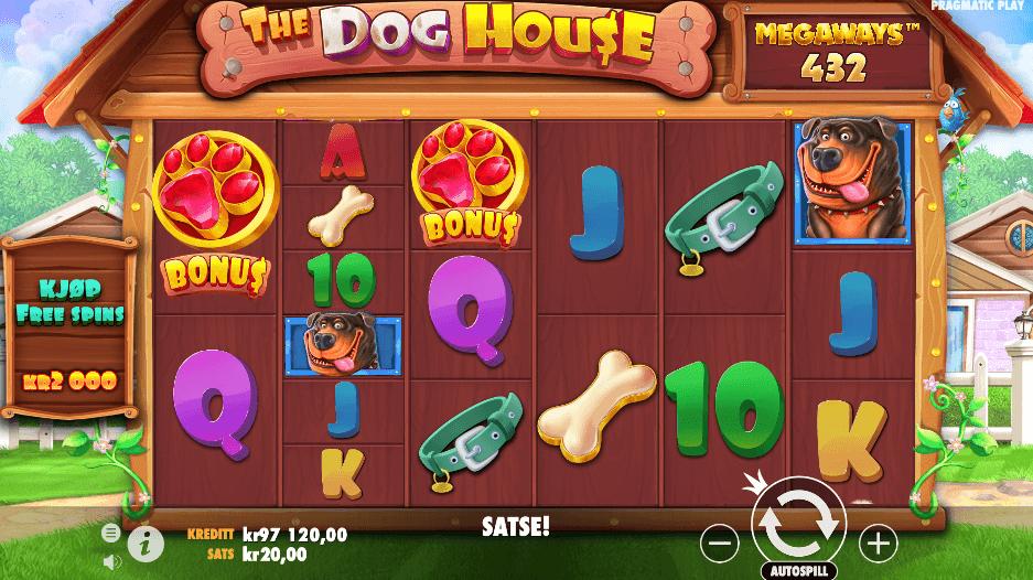 Spilleautomaten The Dog House Megaways™ hovedspill