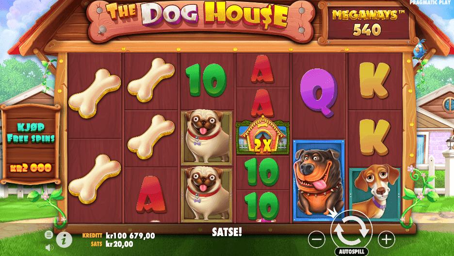Spilleautomaten The Dog House Megaways™ av Pragmatic Play