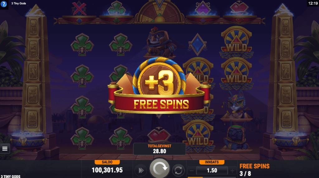Three Tiny Gods free spins