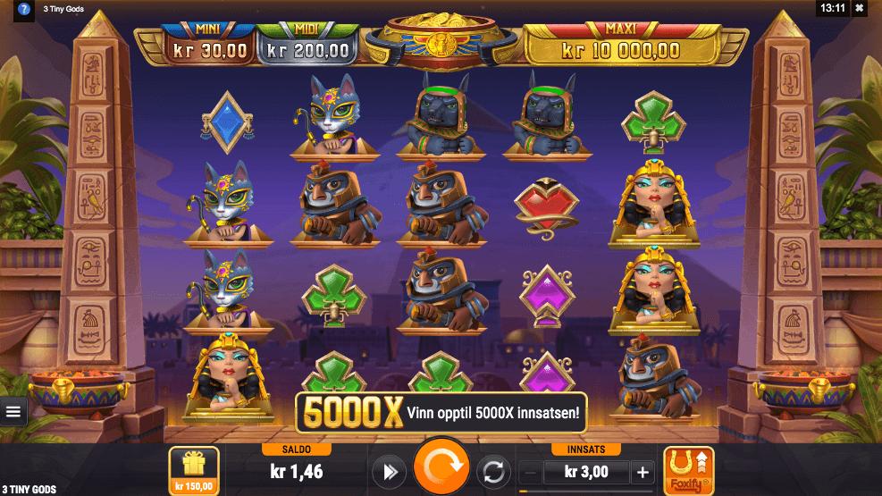 Spilleautomaten Three Tiny Gods hovedspill