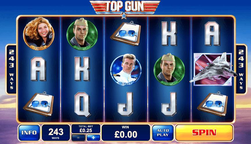 Spilleautomaten Top Gun av Playtech