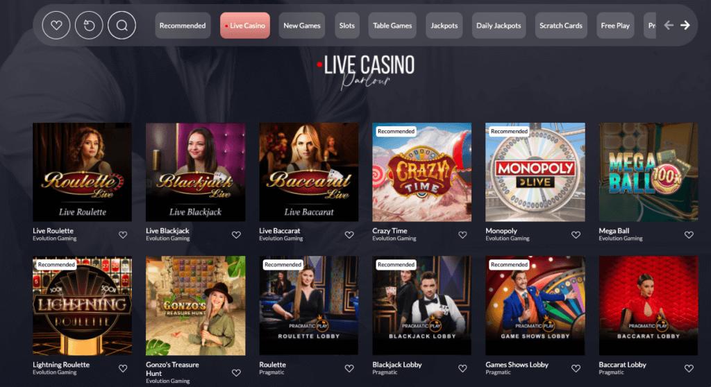 Vegas Lounge Casino - Live Casino