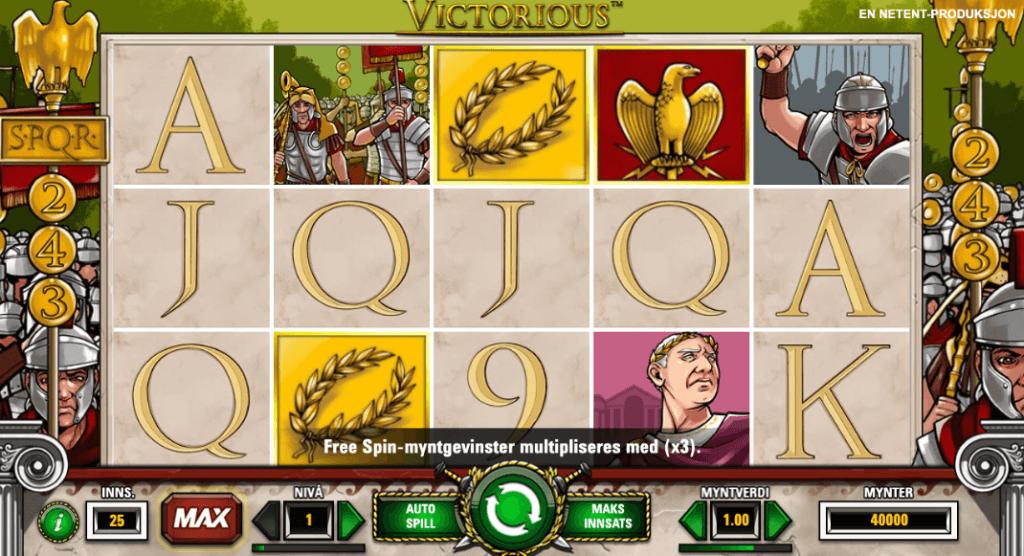 Spilleautomaten Victorious av Netent