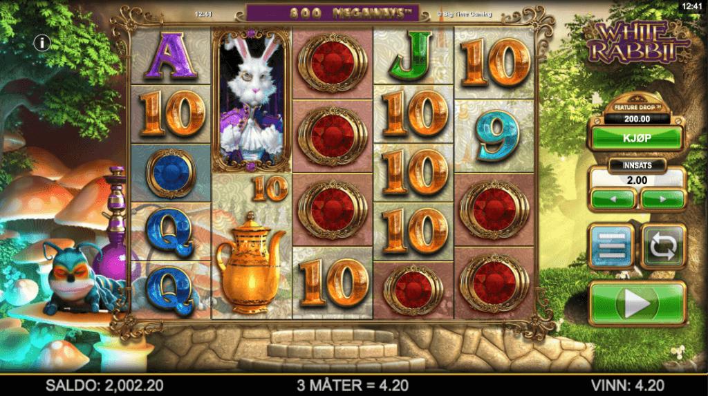 Spilleautomaten White Rabbit Megaways™ av Big Time Gaming