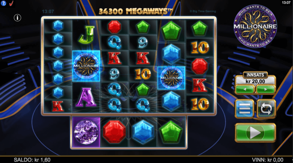 Spilleautomaten Who Wants to be a Millionaire Megaways™ av Big Time Gaming