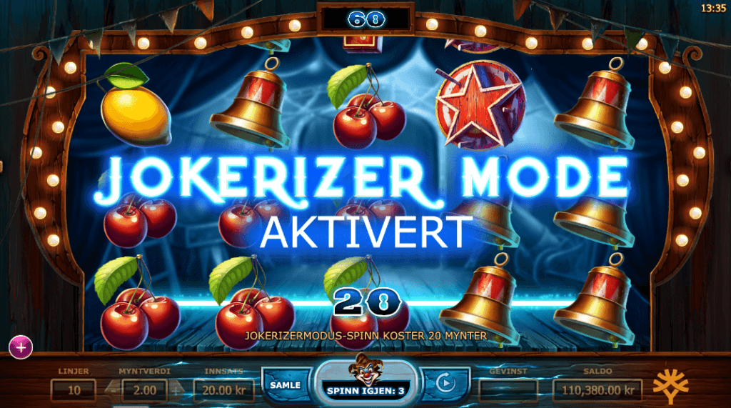 Wicked Circus - Jokerizer Mode free spins