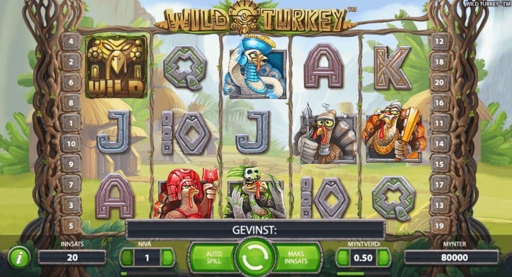 Spilleautomaten Wild Turkey av NetEnt
