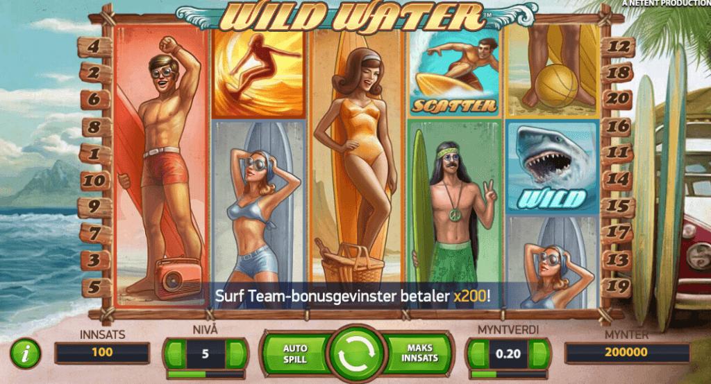 Spilleautomaten Wild Water av NetEnt