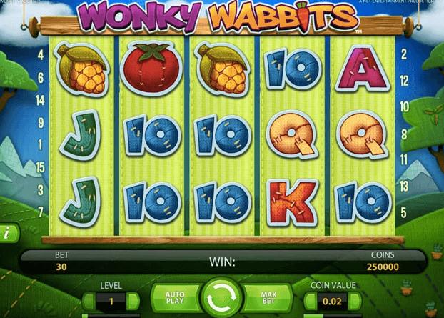 Wonky Wabbits av NetEnt