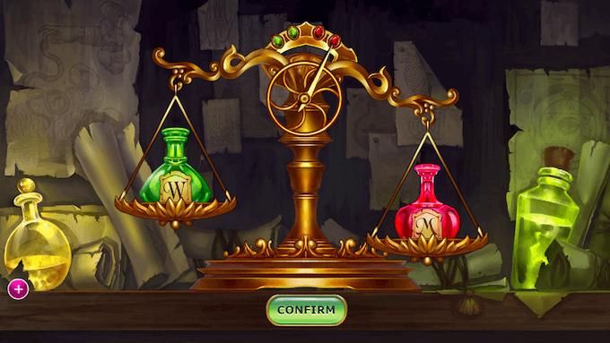 Alchemist's Scale på spilleautomaten Alchymedes