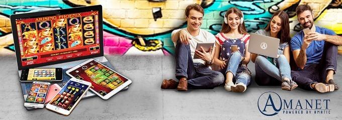 Amatic spilleautomater på PC, mobil og nettbrett