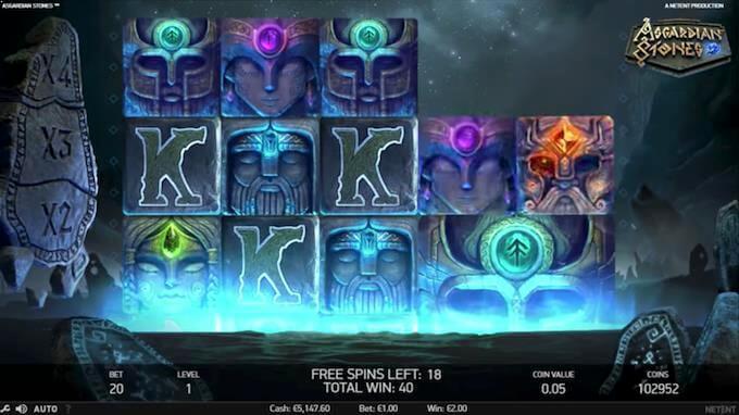 Asgardian Stones free spins