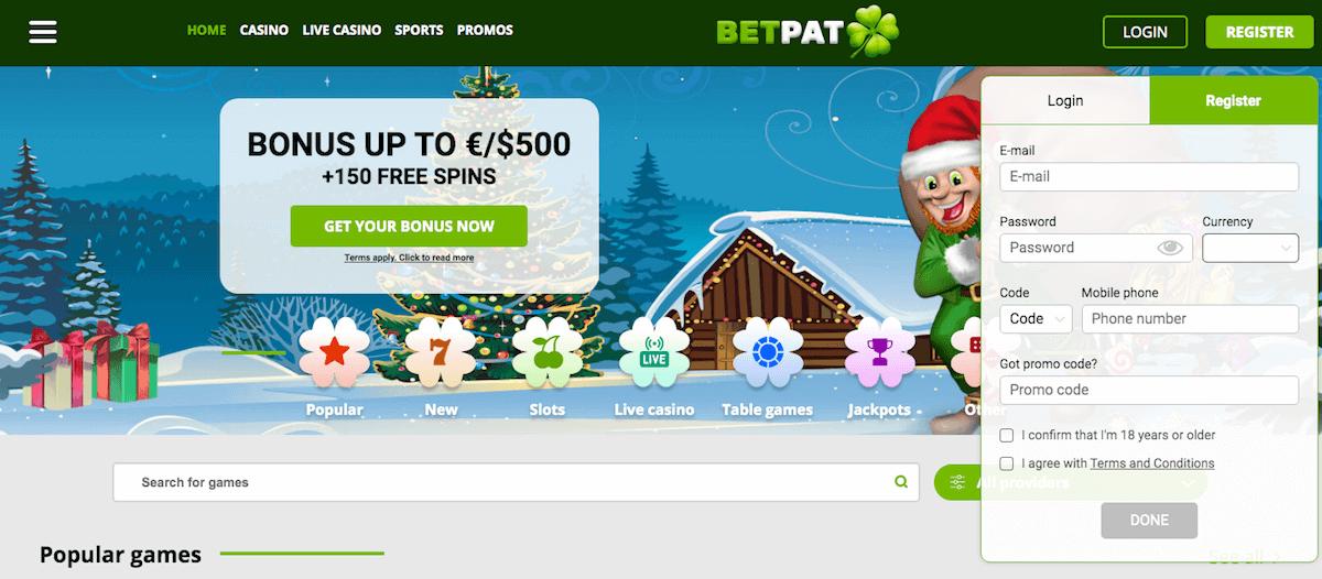 BetPat registrering