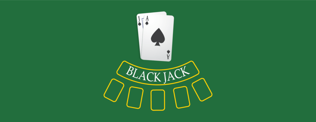 Blackjack bilde av bordet