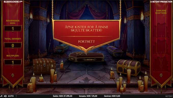 Bonusspill på spilleautomaten Blood Suckers 2