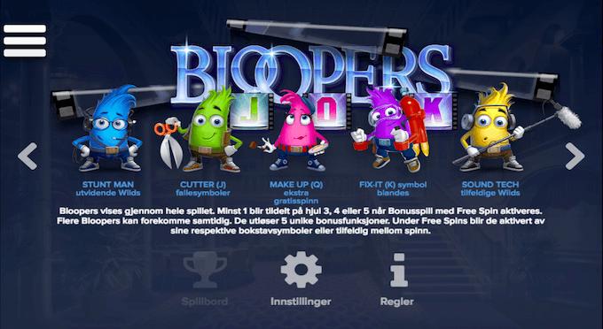 Tegneseriefigurer i spilleautomaten Bloopers - Spill Bloopers hos Leo Vegas nå