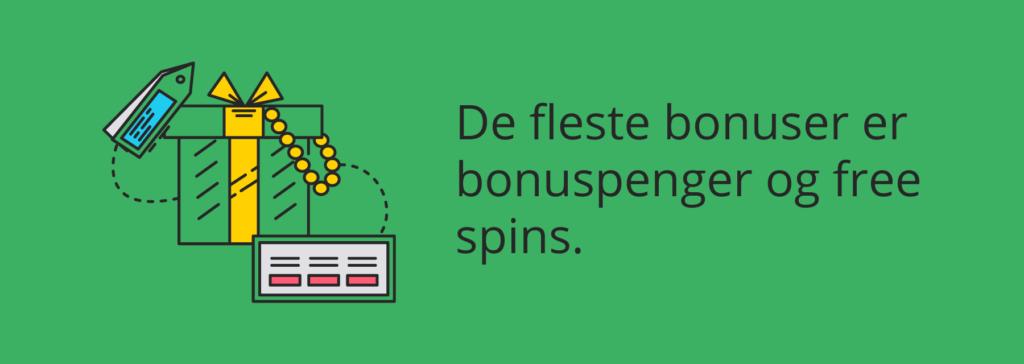 Bonuspenger og free spins