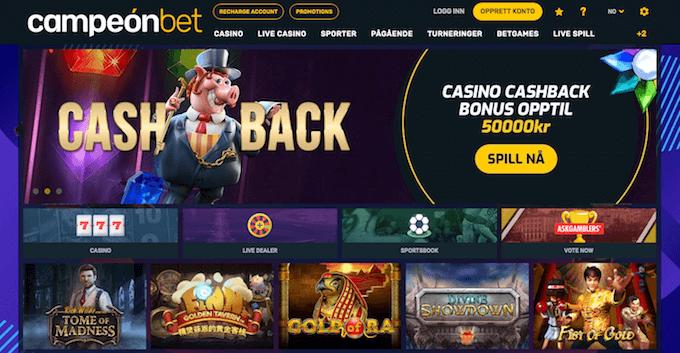 Campeonbet casinoforside