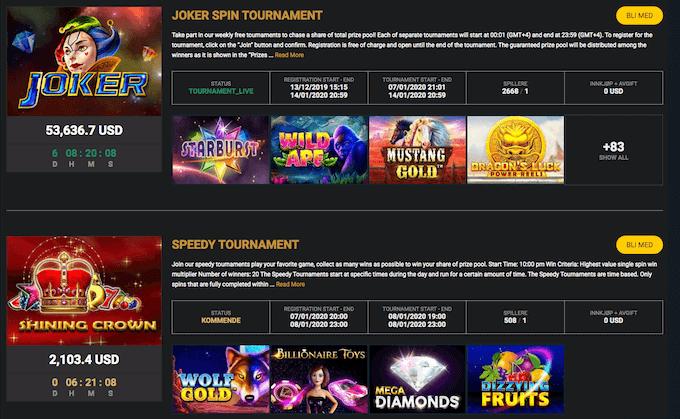 Campeonbet casinoturneringer