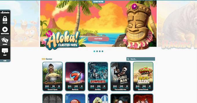 Cashmio har et godt og bredt utvalg av spilleautomater