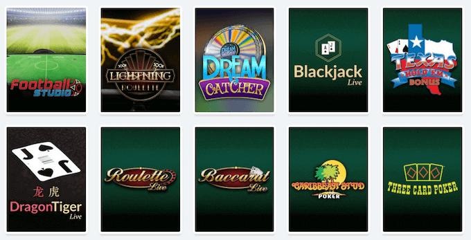 Casilando live casino