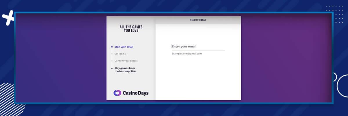 Casino Days registrering