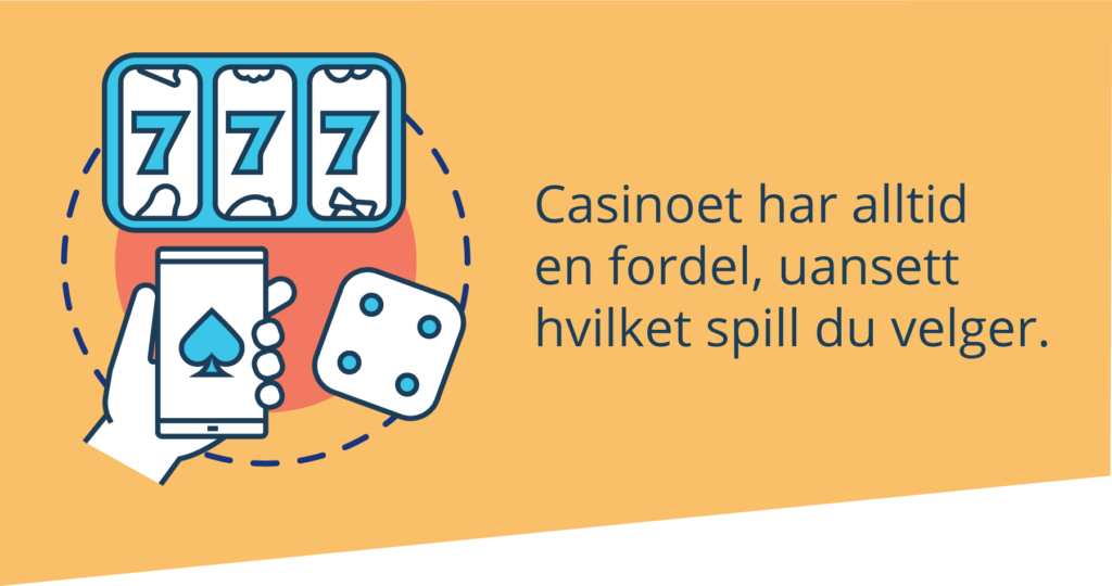 Casinoet har alltid en fordel
