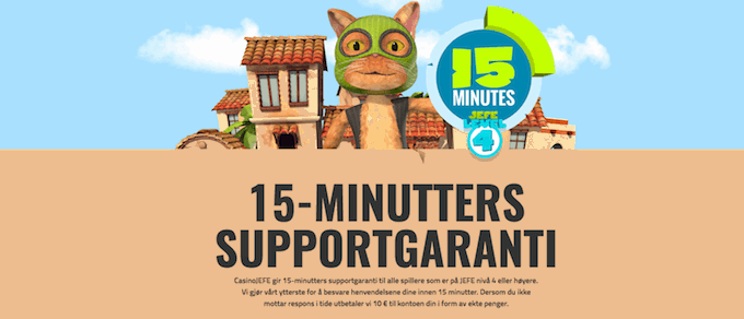 CasinoJefe 15 minutters supportgaranti