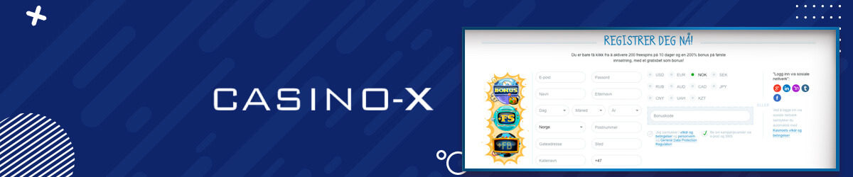 Casino-X registrering