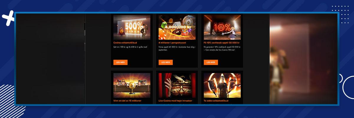 Casino Winner tilbud og kampanjer