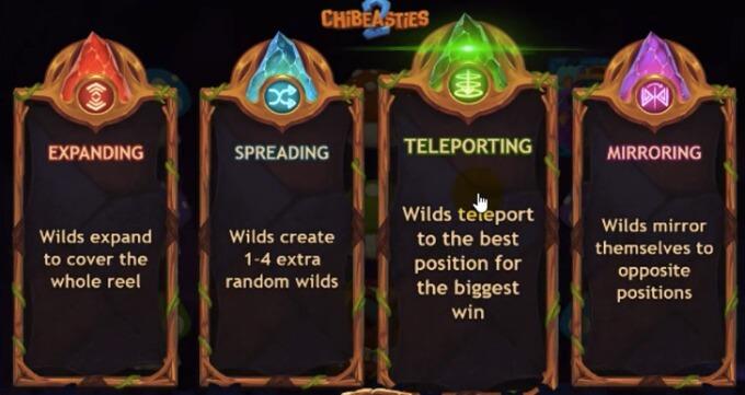 Wild-funksjoner på spilleautomaten Chibeasties 2
