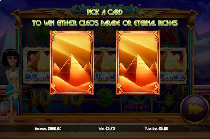Cleo's Wish bonusvalg av free spins