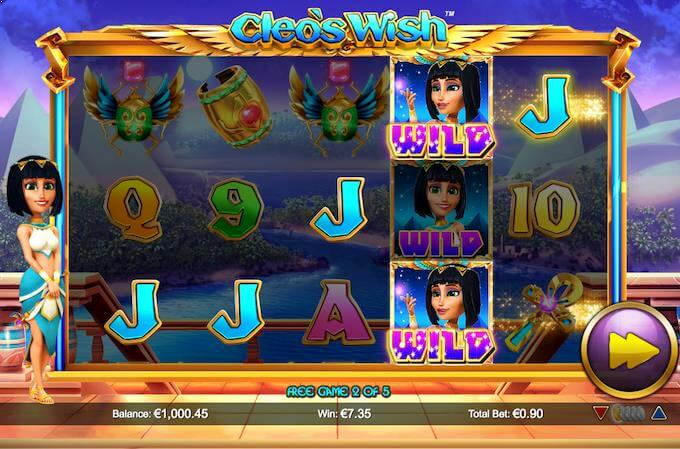 Cleo's Wish free spins