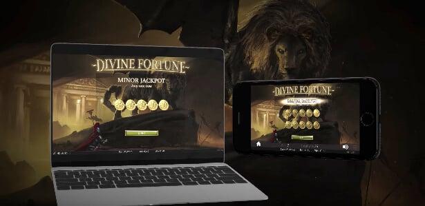 Spilleautomaten Divine Fortune kan spilles både på PC og mobil