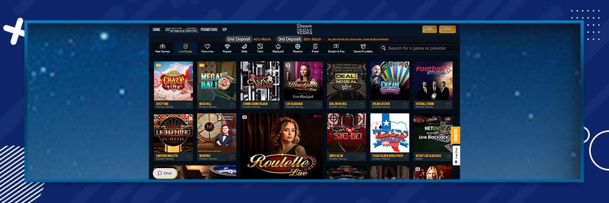 Dream Vegas - Live Casino