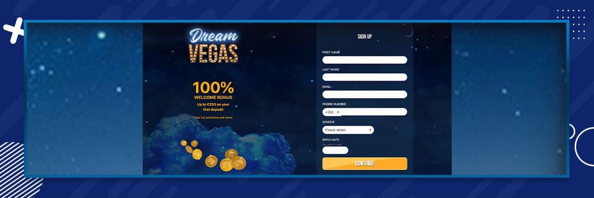 Dream Vegas registrering