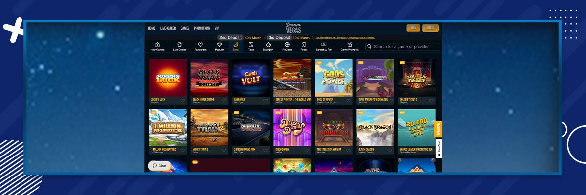 Dream Vegas spilleautomater