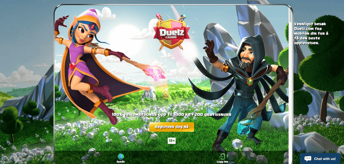 Duelz Casino forside