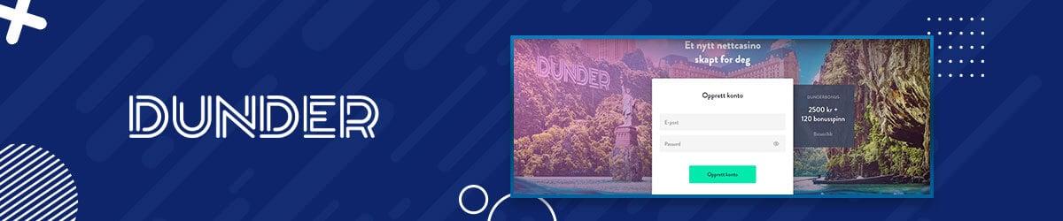 Dunder Casino registrering