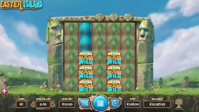 Easter Island ekspanderende hjul med Sticky Wilds