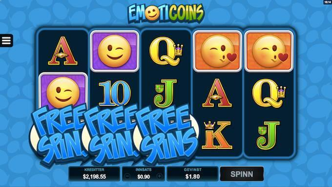 Emoticoins free spins