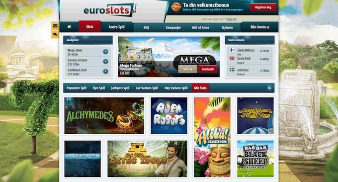 EuroSlots forside