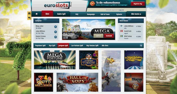 EuroSlots jackpotspill