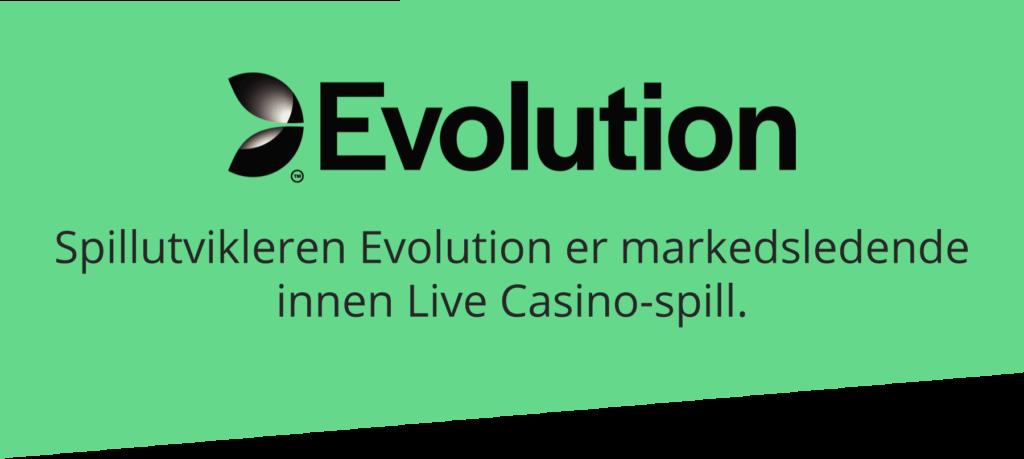 Evolution er markedsledende på Live Casino-spill
