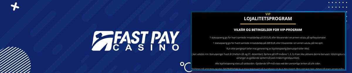 Fastpay Casino VIP-program