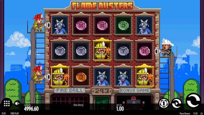 Spillvisning av spilleautomaten Flame Busters