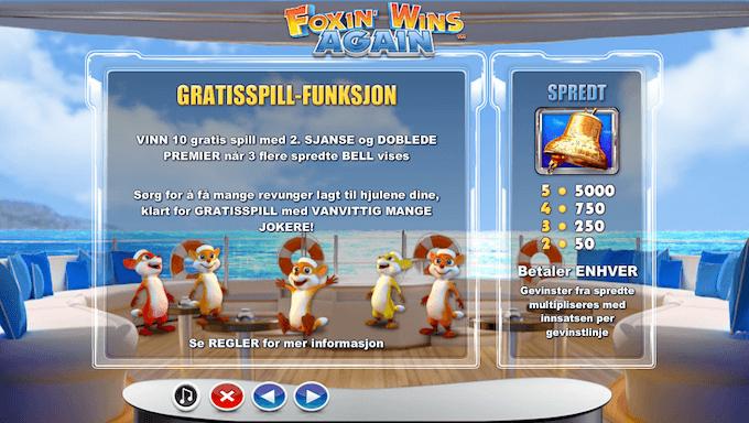 Foxin' Wins Again free spins-funksjon