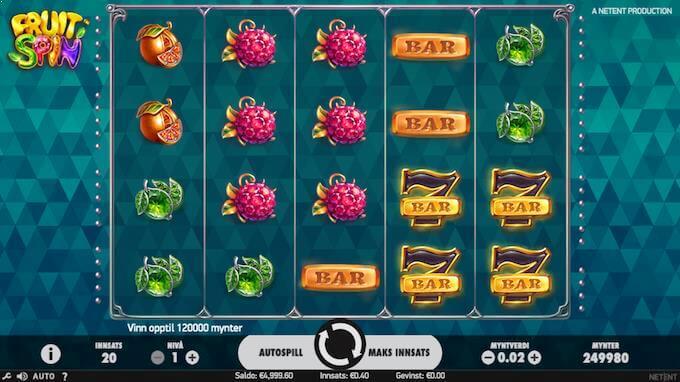 Fruit Spin hovedspill