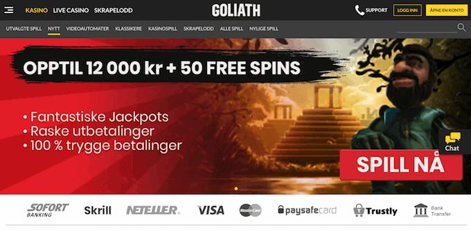Goliath Casino forside