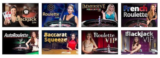 Goliath Casino live casino
